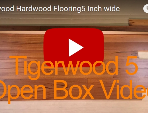 Tigerwood Hardwood Flooring Open Box Video