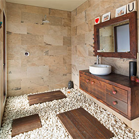 Slate Indian Autumn Bathroom