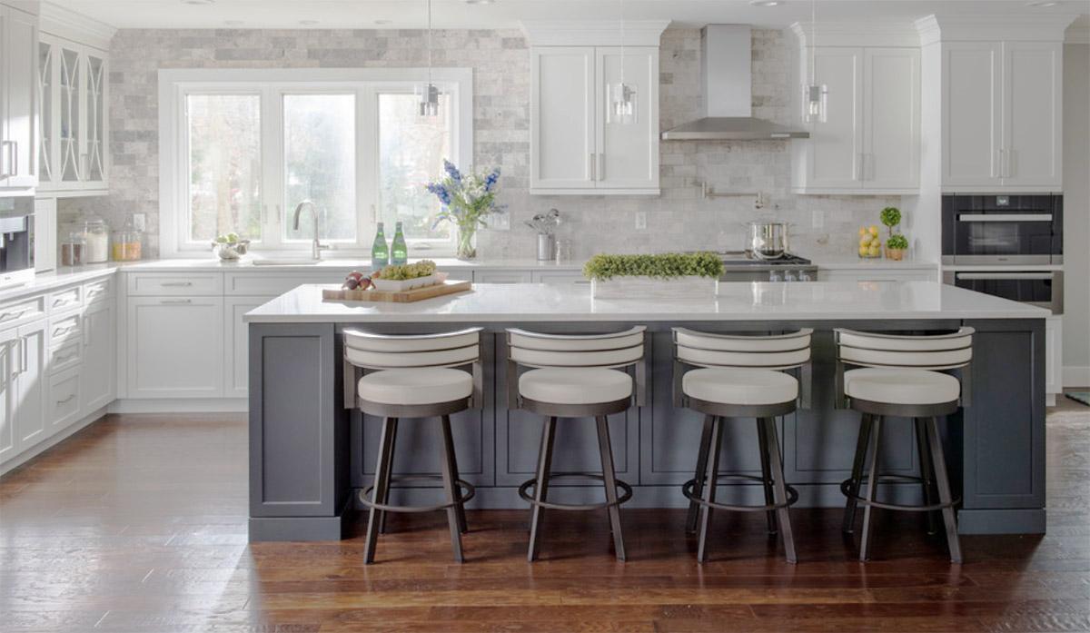 Merveilleux Steel Grey Shaker Kitchen Cabinets U2013 Island